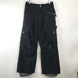 Burton Dryride Ski Snowboard Pants Black Plaids S